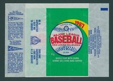1987 O-PEE-CHEE OPC BASEBALL WAX PACK WRAPPERS / BOTH VARIATIONS - NO TEARS