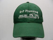 D&F PLUMBING - SINCE 1927 - GREEN - ADJUSTABLE BALL CAP HAT!