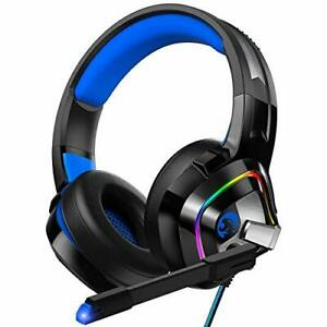 ZIUMIER Gaming Headset PS4 Headset Xbox One Headset with Noise Canceling Mic ...