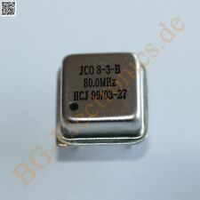 5 x 80.0  MHz Quarzoszillator Quarzoszillator 80.0 MHz Jauch Qua HC49/U 5pcs