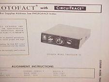1970 COURIER CB RADIO SERVICE SHOP MANUAL MODEL TRAVELLER II