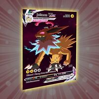 Jolteon VMax - PokeCustoms Sammelkarte (wie Pokémon & Yugioh)