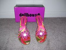 Dollhouse Strappy Sandals With Flower Size 6 1/2