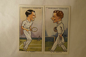 1931 Vintage Churchmans Sporting Celebrities Cards - Tennis - Perry, Austin