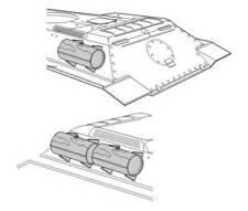 Réservoirs auxiliaires pour T-34/85 1/72 CMK pour kit Revell