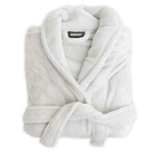 Morrissey Unisex Microplush Bath Robe Bathrobe- Silver