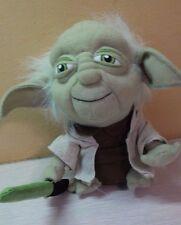 "Star Wars Plush Yoda with Light Saber 7"" stuffed doll"