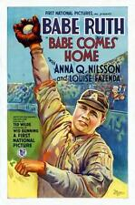 Babe Ruth poster 24x36 Babe Comes Home Baseball