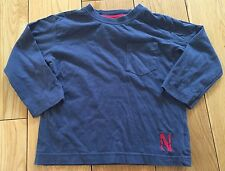 Boys Navy Long Sleeved Next T-shirt Size 12-18 Months