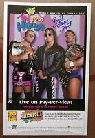 """Bret """"The Hitman"""" Hart Signed Mini Poster 11x17"""