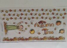 """Autumn Fall Playing in Leaves 12"""" LARGE  STICKERS Borders SCRAPBOOKING Bo Bunny"""
