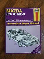 1983-1991 MAZDA 626 and MX-6 SERVICE SHOP HAYNES AUTOMOTIVE REPAIR MANUAL 1082