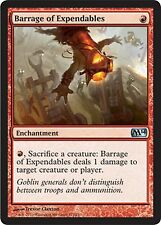 *MRM* ENG 4x Barrage de sacrifiables (Barrage of Expendables MTG Magic 2010-2015