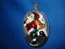 Santa Ornament Santa Ice Skating German Glass Old World Christmas 04172 23