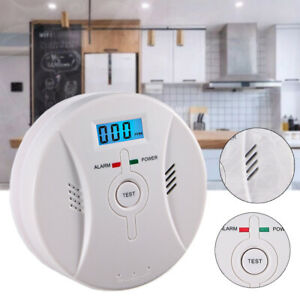 Carbon Monoxide (CO) & Smoke Fire Photoelectric Combination Detector Alarm 2in1