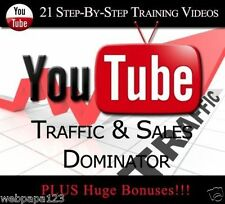 Learn How To Get Website Traffic &Sales Using YouTube(21 Training Videos)+BONUS