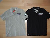 BMW Motorsport M Power Puma Shirt Casual Polo Gray Navy Blue Propeller Logo