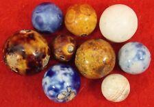 Lot of 9 Antique Bennington Marbles All Colors Includes a Helix