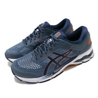 Asics Gel-Kayano 26 2E Wide Blue Peacoat White Men Running Shoes 1011A542-401