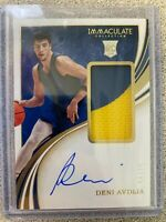 2020-21 Panini Immaculate Deni Avdija RPA Rookie Patch Auto RC #04/25 Wizards