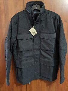 Mens Faherty Military Moleskin Coat jacket M Medium New NWT Grey gray