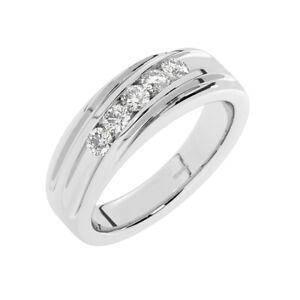 8mm, Round Brilliant Cut Diamond Men's Wedding Designer Ring in 950 Platinum