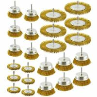 Steel Wire Metal Wheel / Rotary Cup Brush Crimped Set Rust Paint Removal AT377