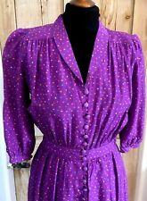 Vintage 1980s does 1940s Tea Dress ... UK  8