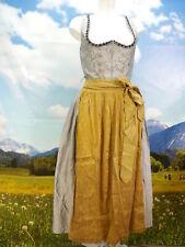 Country Line Seide gelb Balkonett besticktes Dirndl mit Schürze Gr.36