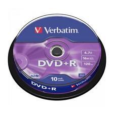 """DVD+R 16x Verbatim """"Matt Silver Azo"""" Tarrina 10 uds"""