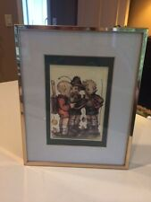 """M Hummel *Boys With Chalkboard* Framed Matted Picture 8 1/4 x 10 1/4"""" Frame"""