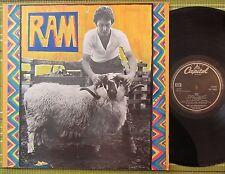 PAUL AND LINDA McCARTNEY, RAM, LP 1971 UK EX-/EX GATEFOLD/LAMINATED/SL