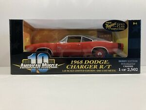 American Muscle 1/18 Die Cast Cars 1968 Dodge Charger R/T Red Ertl 1 Of 2502!