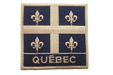 QUEBEC X-LARGE CANADA PROVINCIAL FLAG WITH WORD IRON-ON PATCH CREST BADGE ..NEW