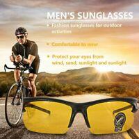 Uv400 HD Night Vision Cycling Riding Driving Glasses Sports Sunglasses Goggles#c