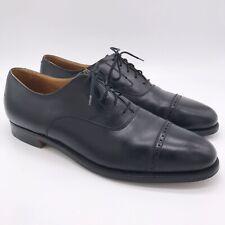 Crockett & Jones BROOKS BROTHERS Black Leather Balmoral Oxford Dress Shoes 11 D