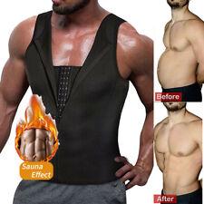 Men Neoprene Body Shaper Sweat Sauna Suit Sweat Vest Fat Burner Waist Trainer US