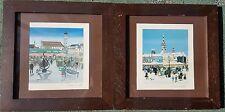 PETRA MOLL 1921-1989 x2 original lithographs pencil signed Munich LS Lowry style