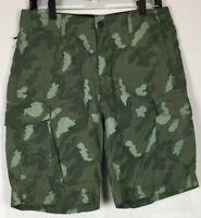 Mens O'Neill TRLR Cargo Board Shorts 31 Drawstring Nylon Camo Camouflage