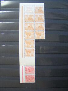 083369 Berlin Bauten 1949 Zusammendruckbogen Bogenteil ** MNH - dabei H-Blatt 3