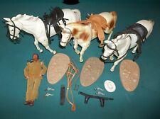 Vintage 1973 Gabriel Lone Ranger Lot,Horses Silver&Scout w Bases,Tonto & Pistols
