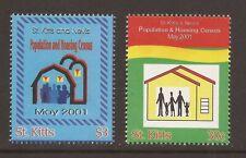 ST KITTS 2001 SG610/611 Population and Housing Census Set MNH (JB6364)