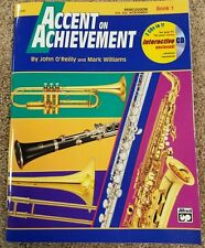 Accent on Achievement Percussion Book 1 with Interactive Cd New