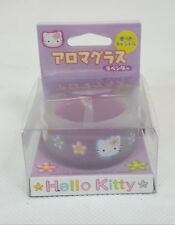 Vintage 1998 Sanrio HELLO KITTY Aroma GLASS Candle Tealight Votive Japan NEW
