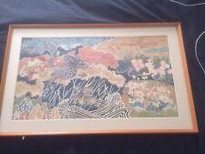Takashi Kuraishi Cloth Painted Art - Signed, Nagano, Japan
