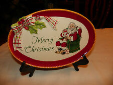 Fitz & Floyd Merry Christmas, Dear Santa Sentient Tray, Nib, Serving Dish