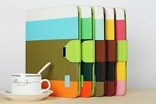 Leather Case Skin Smart Cover Stand for Apple iPad 2 iPad 3 iPad 4 iPad3 iPad4