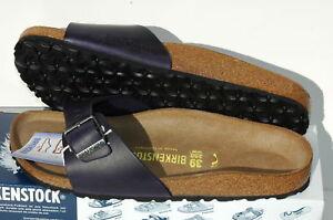 Birkenstock Madrid Cuir Chaussures Femme Homme 39 Sandales Mules Premium Leder