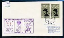 62571) Japan JAL Cachet-Stpl 513 Tage...Olympiade Sapporo... FFT 1970 MeF