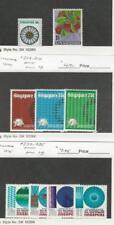 Singapore, Postage Stamp, #195, 198 Hinged, 212-214, 232-235 Mint LH, 1973-5